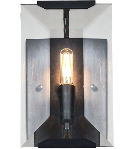 Elegant Lighting 1212W6FB Monaco 1 Light 6 Inch Flat Black Wall Sconce Wall  Light, Urban Classic