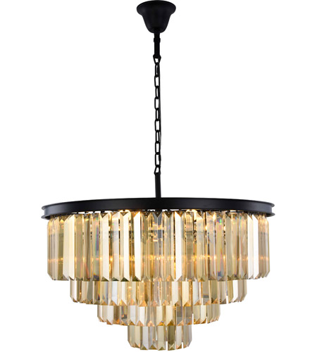 Elegant Lighting 1231d32mb Gt Rc Sydney 17 Light 32 Inch Matte Black Chandelier Ceiling Urban Clic