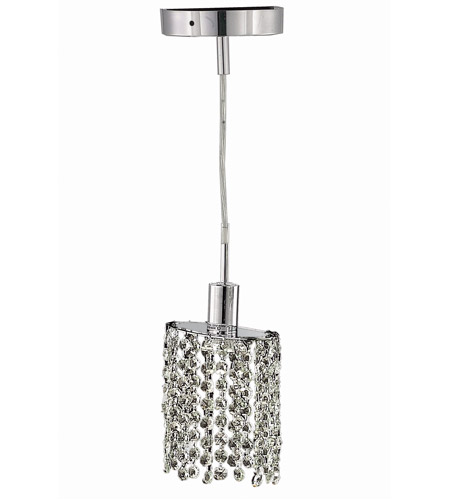 Elegant Lighting 1281D-R-E-CL/RC Mini 1 Light 5 inch Chrome Pendant Ceiling Light in Clear, Royal Cut, Round, Ellipse photo