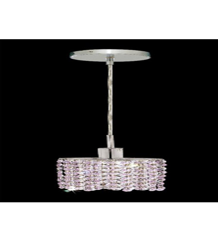 Elegant Lighting Mini 1 Light Pendant in Chrome with Royal Cut Rosaline Crystal 1281D-R-E-RO/RC photo