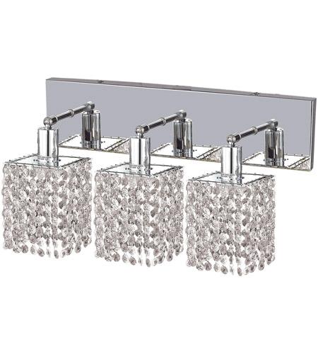 Elegant Lighting 1283w O S Cl Rc Mini 3 Light 15 Inch Chrome Vanity Wall In Clear Royal Cut Square