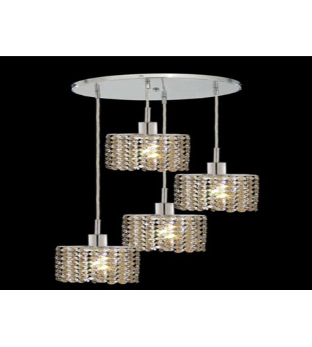 Elk Lighting Bordeaux: Elegant Lighting Mini 4 Light Pendant In Chrome With Royal