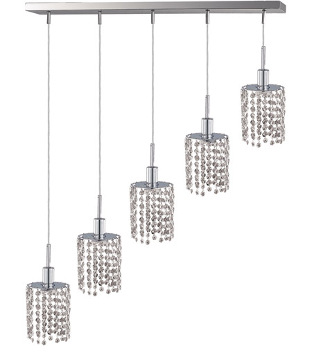 Elegant Lighting Mini 5 Light Pendant in Chrome with Royal Cut Clear Crystal 1285D-O-R-CL/RC photo