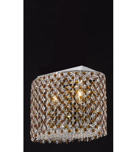 Elegant Lighting Moda 2 Light Dining Chandelier in Chrome with Royal Cut Topaz Crystal 1292D14C-TO/RC photo
