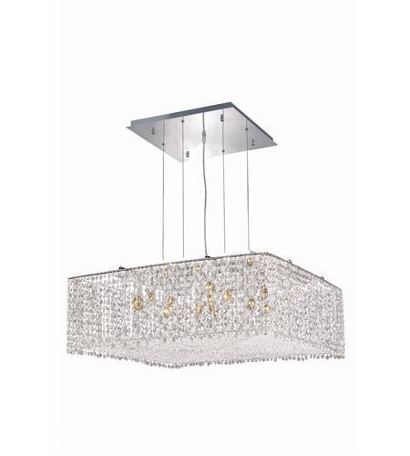 Elegant Lighting 1294D26C-CL/RC Moda 13 Light 26 inch Chrome Dining Chandelier Ceiling Light in Clear, Royal Cut photo