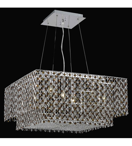 Elegant Lighting Moda 4 Light Dining Chandelier in Chrome with Royal Cut Topaz Crystal 1299D24C-TO/RC photo