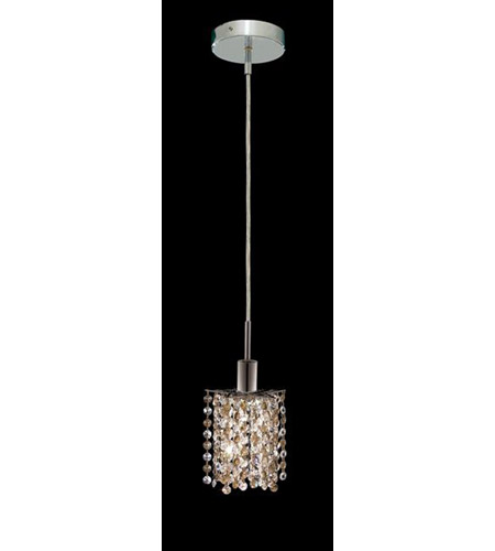 Elegant Lighting 1381D-R-P-GT/RC Mini 1 Light 5 inch Chrome Pendant Ceiling Light in Golden Teak, Royal Cut, Round, Star photo
