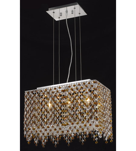 Elegant Lighting Moda 3 Light Dining Chandelier in Chrome with Royal Cut Topaz Crystal 1391D18C-TO/RC photo