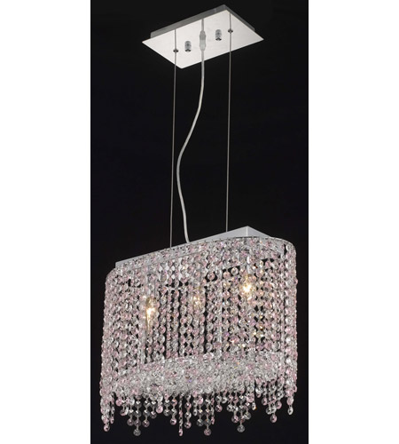Elegant Lighting 1392D18C-RO/RC Moda 3 Light 10 inch Chrome Dining Chandelier Ceiling Light in Rosaline, Royal Cut photo