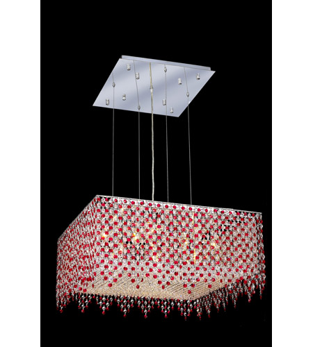 Elegant Lighting Moda 13 Light Dining Chandelier in Chrome with Swarovski Strass Bordeaux Crystal 1394D26C-BO/SS photo