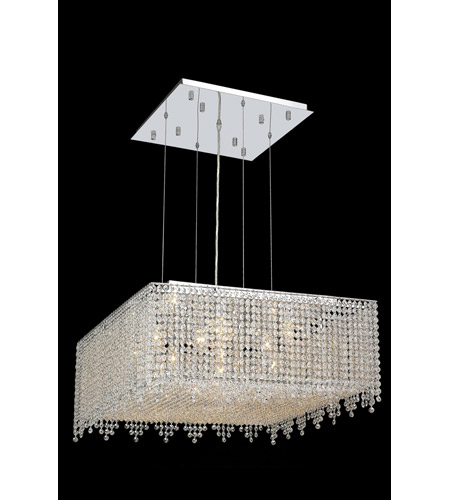Elegant Lighting Moda 13 Light Dining Chandelier in Chrome with Royal Cut Clear Crystal 1394D26C-CL/RC photo