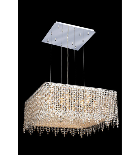 Elegant Lighting Moda 13 Light Dining Chandelier in Chrome with Royal Cut Golden Teak Crystal 1394D26C-GT/RC photo