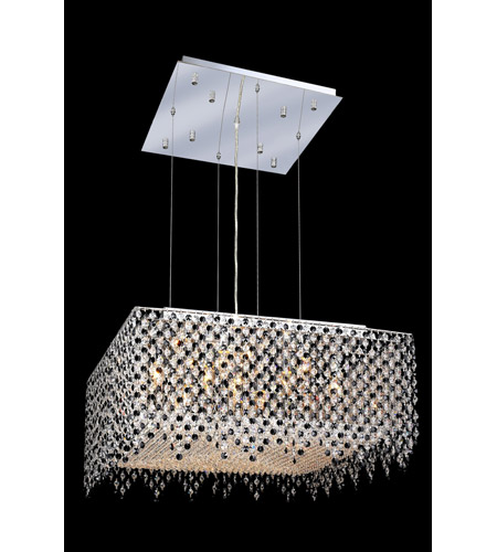 Elegant Lighting 1394D26C-JT/SS Moda 13 Light 26 inch Chrome Dining Chandelier Ceiling Light in Jet Black, Swarovski Strass photo