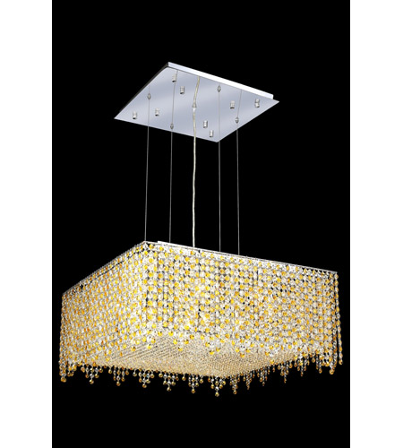 Elegant Lighting 1394D26C-LT/RC Moda 13 Light 26 inch Chrome Dining Chandelier Ceiling Light in Light Topaz, Royal Cut photo