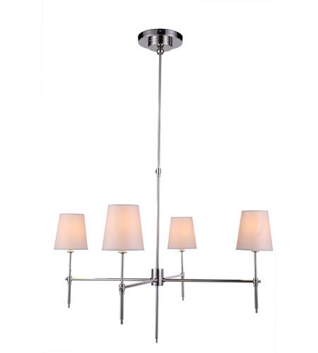 Urban Clic By Elegant Lighting Baldwin 4 Light Pendant In Polished Nickel 1412g36pn