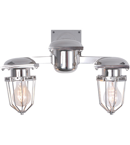 Elegant Lighting 1451w18c Kingston 2 Light 18 Inch Chrome Wall Sconce Urban Clic