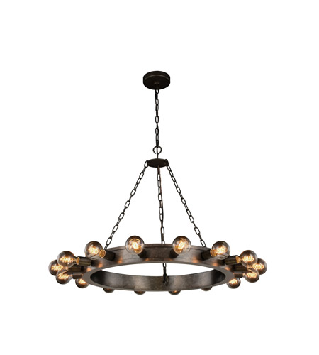 Elegant Lighting Aged Iron Winston Pendants