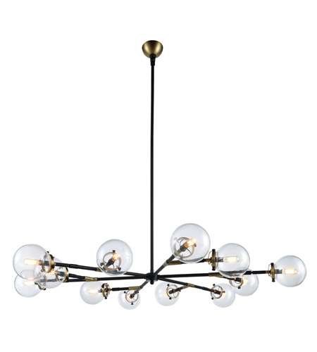 Elegant lighting 1507g58bb leda 12 light 58 inch burnished brass elegant lighting 1507g58bb leda 12 light 58 inch burnished brass and flat black chandelier ceiling light aloadofball Gallery