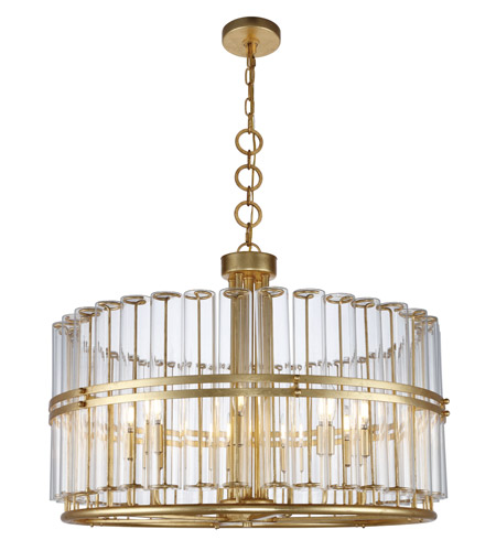 Elegant Lighting 1528d32agl Piper 9 Light 32 Inch Antique Gold Leaf Chandelier Ceiling Urban Clic