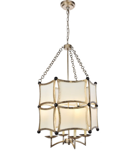 White Sails 4 Light 23 Inch Antique Sliver Leaf And Flat Black Chandelier Ceiling Urban Clic