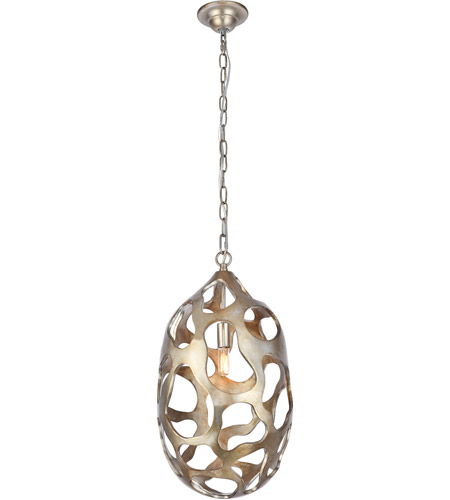 Elegant Lighting 1545D12GS Bombay 1 Light 12 inch Gilded Silver Chandelier Ceiling Light, Urban Classic alternative photo thumbnail