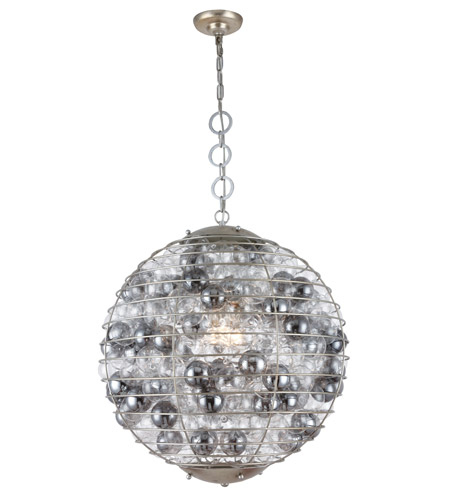 Elegant Lighting 1702d24asl Bellagio 1 Light 24 Inch Antique Silver Leaf Chandelier Ceiling Urban Clic