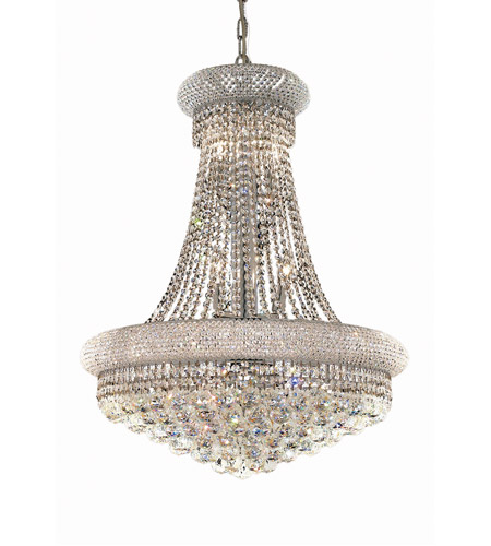 Primo 14 Light 24 Inch Chrome Dining Chandelier Ceiling In Spectra Swarovski