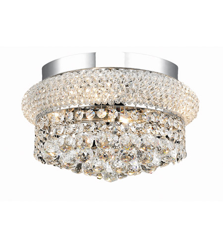 Elegant Lighting Primo 4 Light Flush Mount in Chrome with Spectra Swarovski Clear Crystal 1800F12C/SA photo
