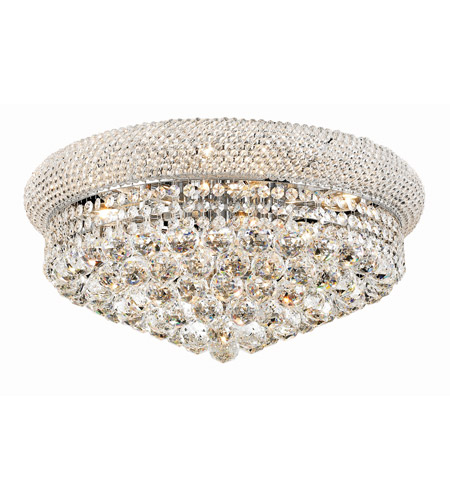 Elegant Lighting Primo 10 Light Flush Mount in Chrome with Swarovski Strass Clear Crystal 1800F20C/SS photo