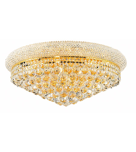 Elegant Lighting Primo 12 Light Flush Mount in Gold with Royal Cut Clear Crystal 1800F24G/RC photo