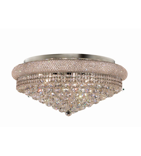 Elegant Lighting V1800F28C/EC Primo 15 Light 28 inch Chrome Flush Mount Ceiling Light in Elegant Cut photo