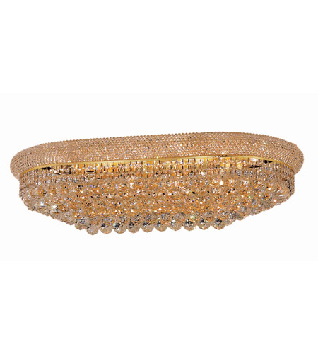 Elegant Lighting Primo 18 Light Flush Mount in Gold with Swarovski Strass Clear Crystal 1800F36SG/SS photo