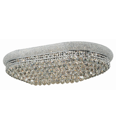 Elegant Lighting 1800F40SC/RC Primo 24 Light 24 inch Silver and Clear Mirror Flush Mount Ceiling Light in Royal Cut photo