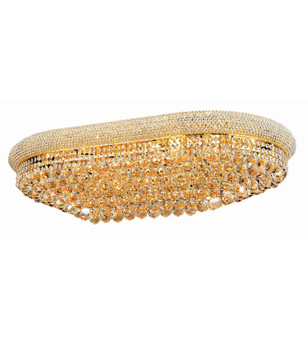 Elegant Lighting 1800F40SG/SA Primo 24 Light 24 inch Gold Flush Mount Ceiling Light in Spectra Swarovski photo