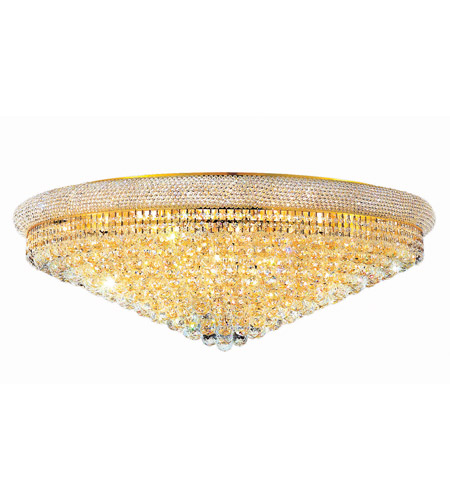 Elegant Lighting Primo 30 Light Flush Mount in Gold with Spectra Swarovski Clear Crystal 1800F42G/SA photo