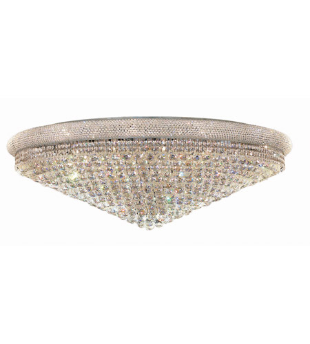 Elegant Lighting V1800F48C/SS Primo 33 Light 48 inch Chrome Flush Mount Ceiling Light in Swarovski Strass photo