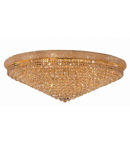 Elegant Lighting Primo 33 Light Flush Mount in Gold with Spectra Swarovski Clear Crystal 1800F48G/SA photo
