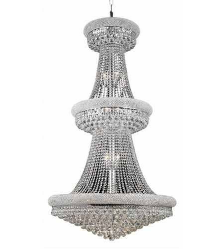 Elegant Lighting V1800G36C/SS Primo 32 Light 36 inch Chrome Foyer Ceiling Light in Swarovski Strass photo
