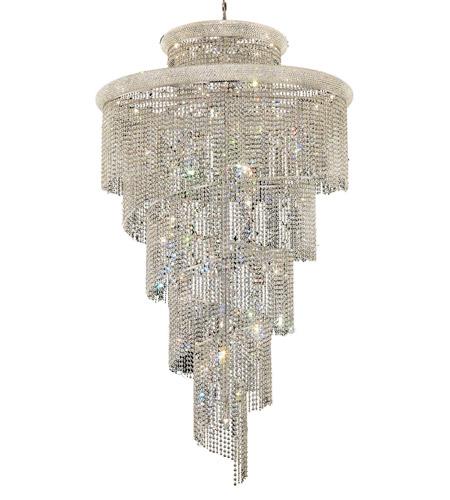 Elegant lighting v1800sr48crc spiral 41 light 48 inch chrome foyer elegant lighting v1800sr48crc spiral 41 light 48 inch chrome foyer ceiling light in royal cut aloadofball Images