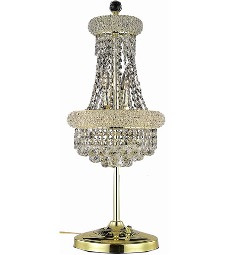 Elegant Lighting Primo 6 Light Table Lamp in Gold with Spectra Swarovski Clear Crystal 1800TL12G/SA photo