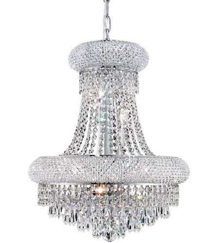 Elegant Lighting 1802D16C/RC Primo 8 Light 16 inch Chrome Dining Chandelier Ceiling Light in Royal Cut photo