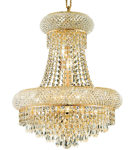 Elegant Lighting 1802D16G/RC Primo 8 Light 16 inch Gold Dining Chandelier Ceiling Light in Royal Cut photo
