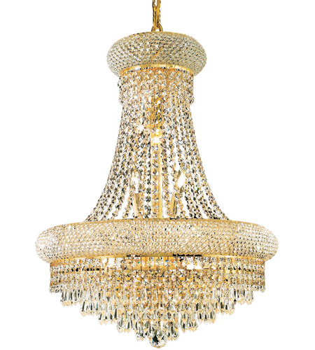Elegant Lighting Primo 14 Light Dining Chandelier in Gold with Royal Cut Clear Crystal 1802D20G/RC photo