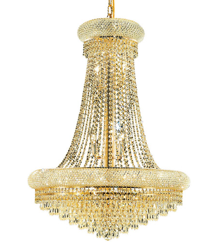 Elegant Lighting 1802D28G/RC Primo 14 Light 28 inch Gold Dining Chandelier Ceiling Light in Royal Cut photo