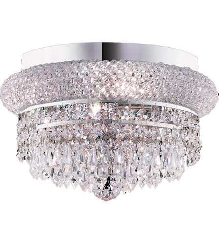 Elegant Lighting 1802F12C/SA Primo 4 Light 12 inch Chrome Flush Mount Ceiling Light in Spectra Swarovski photo