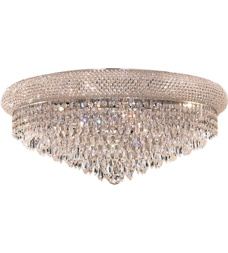 Elegant Lighting Primo 12 Light Flush Mount in Chrome with Royal Cut Clear Crystal 1802F24C/RC photo