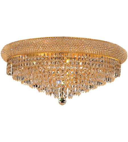 Elegant Lighting 1802F24G/RC Primo 12 Light 24 inch Gold Flush Mount Ceiling Light in Royal Cut photo
