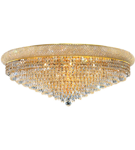 Elegant Lighting Primo 20 Light Flush Mount in Gold with Royal Cut Clear Crystal 1802F36G/RC photo