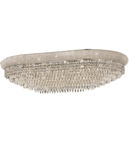 Elegant Lighting 1802F40SC/SA Primo 24 Light 24 inch Silver and Clear Mirror Flush Mount Ceiling Light in Spectra Swarovski photo