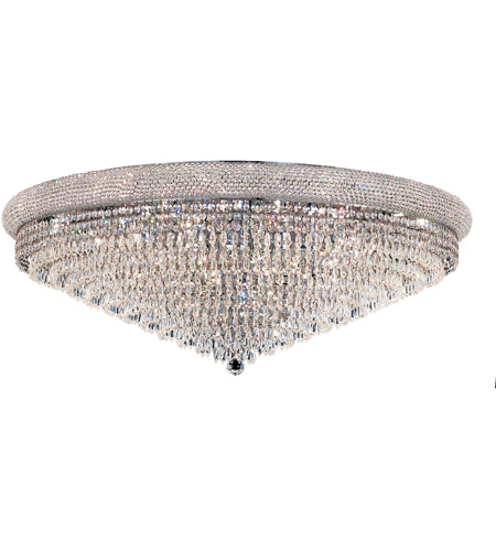 Elegant Lighting Primo 30 Light Flush Mount in Chrome with Spectra Swarovski Clear Crystal 1802F42C/SA photo